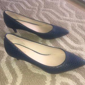 Cole Haan snakeskin kitten heels!